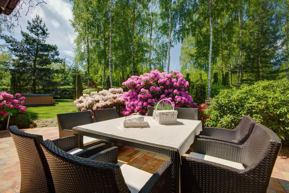 Dónde equipar el jardín para el verano